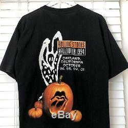Vintage Rolling Stones Halloweek 1994 Oakland 90 Halloween Brockum T-shirt XL