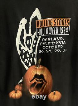 Vintage Rolling Stones Halloween Fangs Oakland Halloween 90s T-shirt Large XL