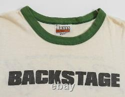 Vintage Rolling Stones Shirt Crew Only Backstage Tee S/m 1981 80s Original