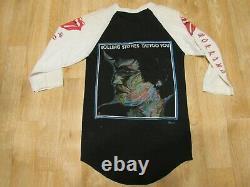 Vintage Rolling Stones Shirt Tatoo You Années 80 Raglan