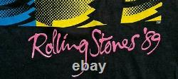 Vintage Rolling Stones Steel Roues'89 Chemise D'origine Vintage