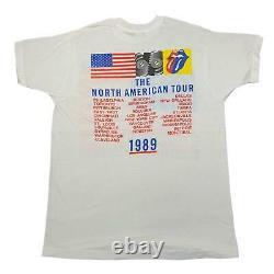 Vintage Rolling Stones Steel Wheels'89 Tour T-shirt Sz XL North American 1980