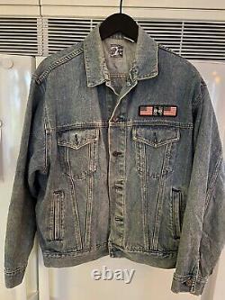Vintage Rolling Stones Steel Wheels Tour Jean Jacket 1989 Fabriqué Par Brockum XL