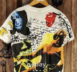 Vintage Rolling Stones T Shirt All Over Print XL Some Girls Bootleg Réimpression