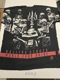 Vintage Rolling Stones T-shirt Voodoo Lounge All Over Print 90s Single Stitch XL