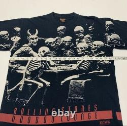 Vintage Rolling Stones T-shirt Voodoo Lounge All Over Print Années 90