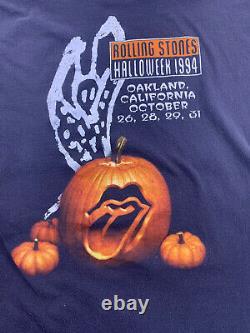 Vintage Rolling Stones T-shirt XL Halloweek 1994 Oakland Halloween Brockum 90s