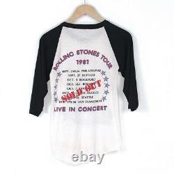 Vintage Rolling Stones Tour T-shirt Original 1981 Rolling Stones T-shirt 80s