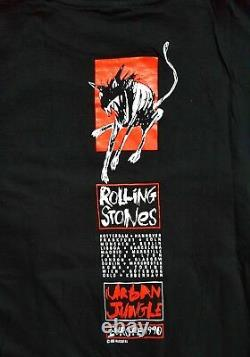 Vintage Rolling Stones Urban Jungle 1989 Brockum Tour T-shirt Nouveau! Rare