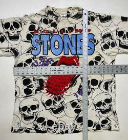 Vintage Rolling Stones Voodoo All Over Imprimer 1994 T-shirt Homme XL Single Stitch