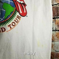 Vintage Rolling Stones Voodoo Lounge 1994 -1995 World Tour Concert Shirt Size L
