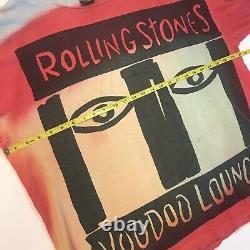 Vintage Rolling Stones Voodoo Lounge 90s Tour USA Single Stitch T Shirt Band XXL