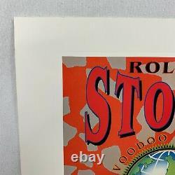 Vintage Rolling Stones Voodoo Lounge Années 90 Signé Et Numéroté Affiche Lithographique