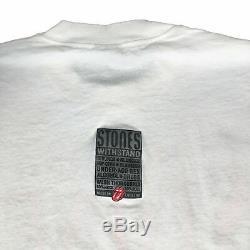 Vintage Rolling Stones Voodoo Lounge T-shirt 1994 1995 Fabriqué En Angleterre Sz L