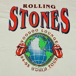 Vintage Rolling Stones Voodoo Lounge T-shirt Acdc Pink Floyd Tournée 1990 1995