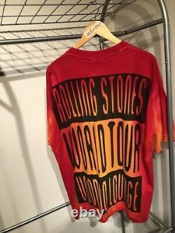 Vintage Rolling Stones Voodoo Lounge Tour Band Tee Shirt Tie Dye Brockum XL