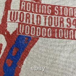 Vintage Rolling Stones Voodoo Lounge Tour T Shirt Brockum Taille L