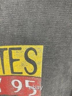 Vintage Rolling Stones Voodoo Nights 1995 Wembley Mick Jagger Hommes T-shirt Sze M