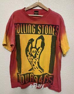 Vintage Rolling Stones World Tour Voodoo Lounge 94/95 Brockum XL Nice Papier Fin