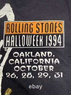Vintage Rolling Stones'halloweek' Vampire Halloween Concert Tour Shirt (1994)