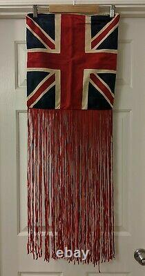 Vintage Spell & The Tsigane Collective Rolling Stones Suede Fringe Oreiller Cover