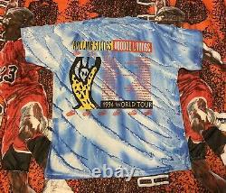 Vintage T Shirt Rolling Stones 1994 Voodoo Lounge Rare Print Tie Dye Brockum XL