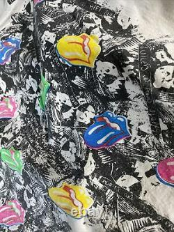 Vintage T-shirt Rolling Stones Promotour Tournée 1989 Hommes 3xl Rare