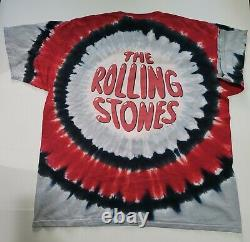 Vintage The Rolling Stones 2002 Liquid Blue Double Sided Tie Dye XL T-shirt