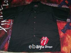 Vintage The Rolling Stones Art Dragonfly Polyester Robe De Bouton Col Chemise L
