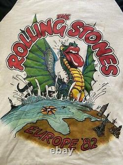 Vintage The Rolling Stones Europe Tour 1982 Band T-shirt Taille S J. Geils Band