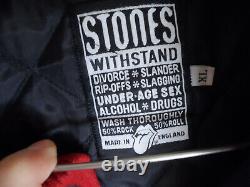 Vintage The Rolling Stones World 97/98 Bomber Varsity Letterman Veste Homme XL