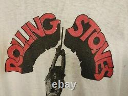 Vtg 1978 Rolling Stones Some Girls'last Tour' T Shirt XL Ringer Point Unique