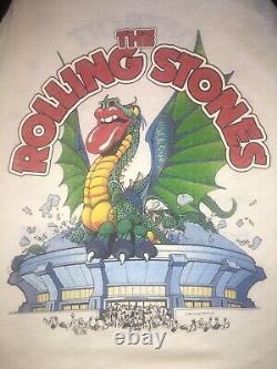 Vtg 1981 The Rolling Stones Concert Tour T Shirt Santana Iggy Pop Detroit MI
