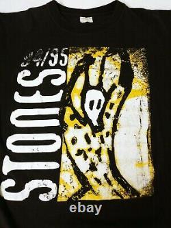 Vtg 1994 Rolling Stones Voodoo Lounge Tour T-shirt Noir Taille (xl)