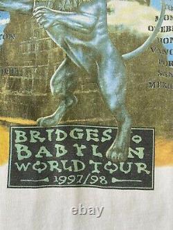 Vtg 1997 1998 Rolling Stones Bridges To Babylon Concert Tour T-shirt À Manches Longues