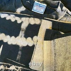 Vtg 1997 90s Single Stitch The Beatles All Over Imprimer T-shirt Rolling Stones XL