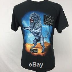 Vtg 1997 98 Ponts À Babylone Rolling Stones Hommes Enfoirés T-shirt Sz L 90