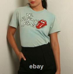 Vtg 70s Fané Rolling Stones Certaines Filles 1978 Tour Soft Single Stitch Lips Tee Sm