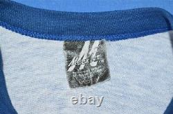 Vtg 70s Rolling Stones Glitter Iron On Raglan Jersey Rock Band T-shirt Small S