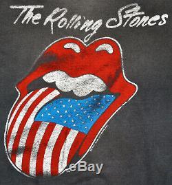 Vtg 80 1981 Les Rolling Stones Nord-américain Concert De Rock T-shirt Thrashed S M