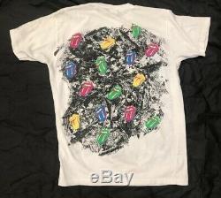 Vtg 80 Rare Rolling Stones 1989 T-shirt 50/50 Simple Stich Taille Unique