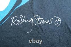 Vtg 80s Rolling Stones North American Tour 1989 T Shirt Spring Ford Classic