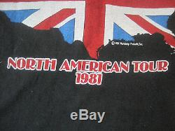 Vtg 80sthe Rolling Stones 1981 N. American Concert Tour T-shirt Officiel Shirt