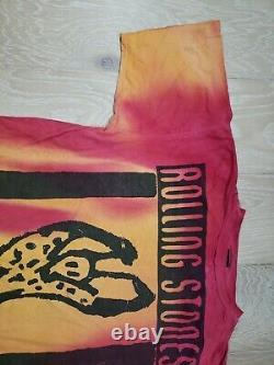 Vtg 90s Brockum Rolling Stones 1994'95 Voodoo Lounge Tie Dye T Shirt X-large XL