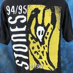 Vtg 90s Rolling Stones Europe World Tour T-shirt L Concert Rock Vaudou Lounge
