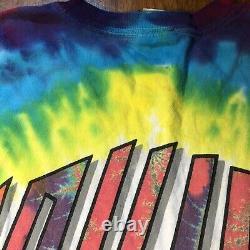 Vtg 90s Stones Rolling Liquid Blue Tie-dye Tour Concert Band T Shirt Sz Large L