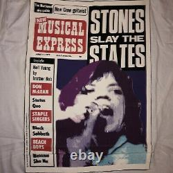 Vtg Deadstock 1980s The Rolling Stones Band T-shirt New Musical Express M Acme