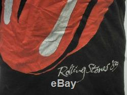Vtg Les Rolling Stones 89 Tournée Nord-américaine T-shirt M