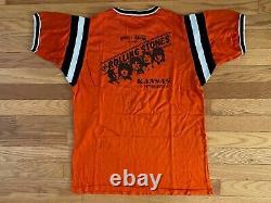 Vtg Rare 1978 World Series Of Rock Rolling Stones Cleveland Orange Jersey Shirt