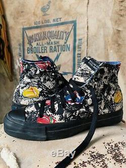 Vtg Rolling Stones Converse Chaussures High Top Nos Made Années 70 Animaux Morts Aux Etats-unis Des Années 80